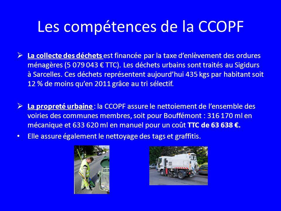 Les compétences de la CCOPF