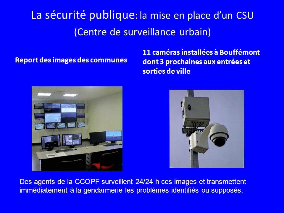 La sécurité publique: la mise en place d'un CSU (Centre de surveillance urbain)