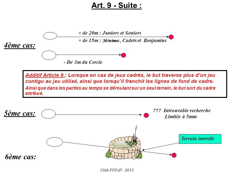 Art. 9 - Suite : 4ème cas: 5ème cas: 6ème cas: