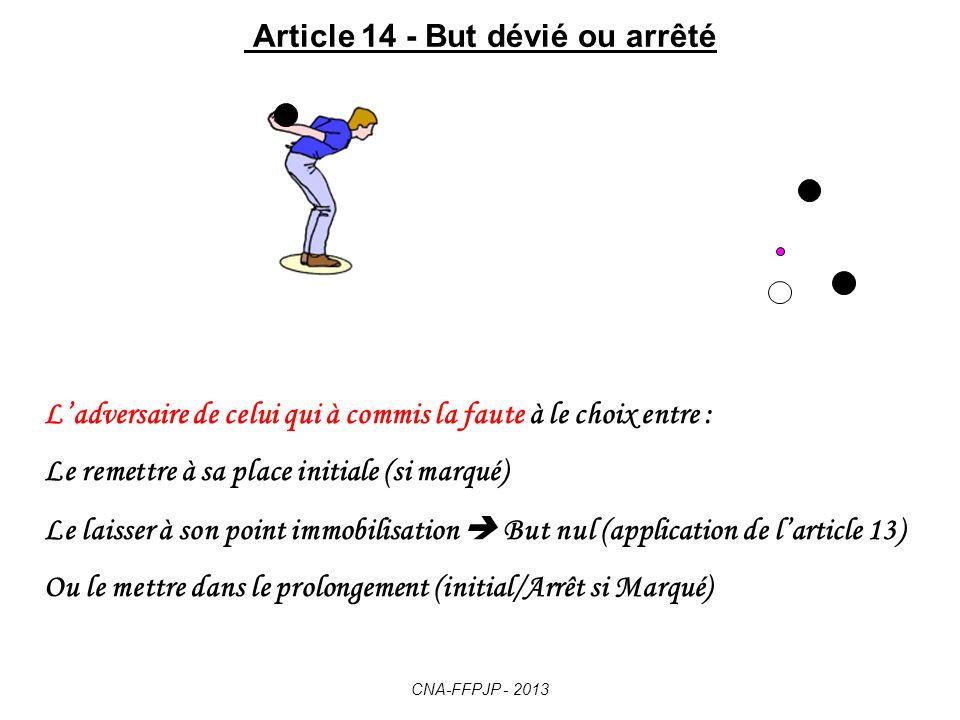 Article 14 - But dévié ou arrêté