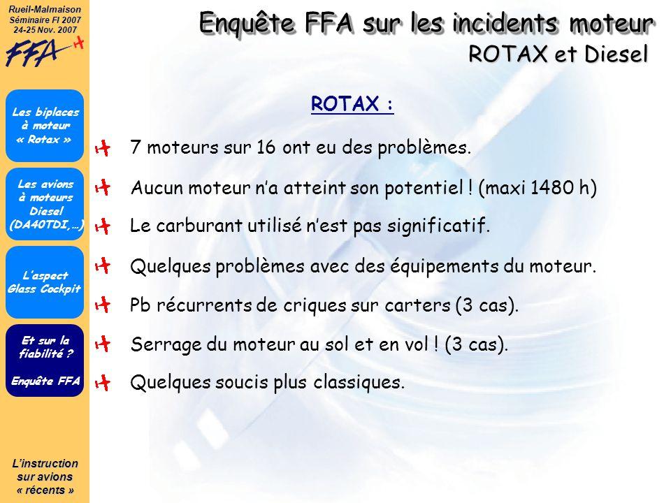 Enquête FFA sur les incidents moteur