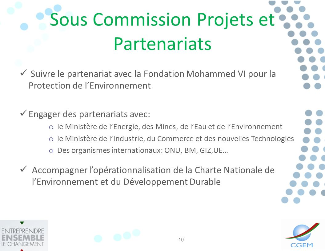 Sous Commission Projets et Partenariats