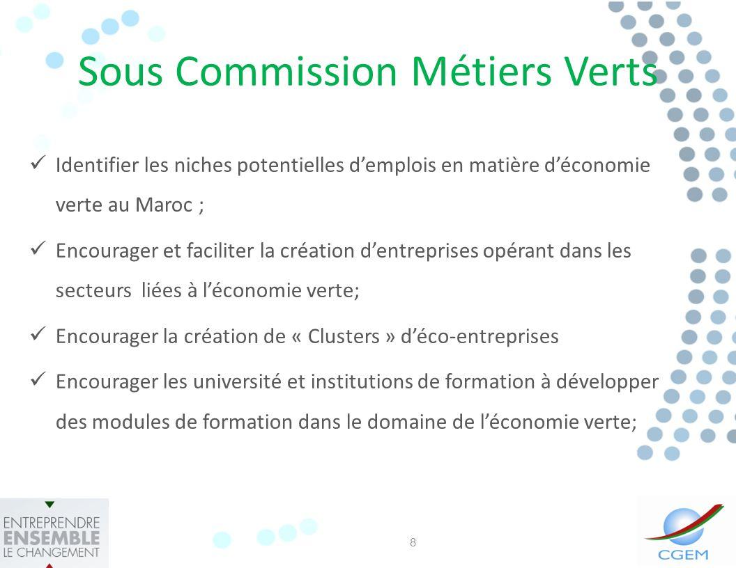 Sous Commission Métiers Verts