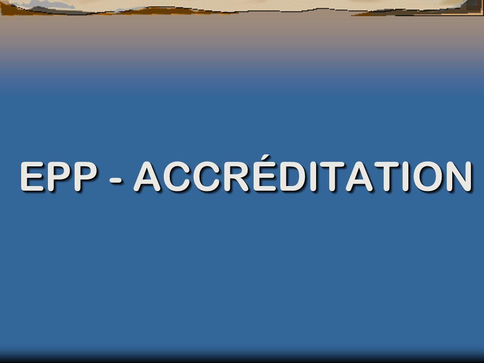 EPP - ACCRÉDITATION