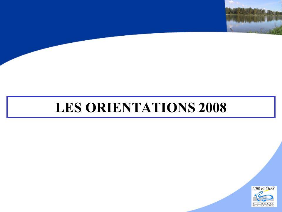 LES ORIENTATIONS 2008