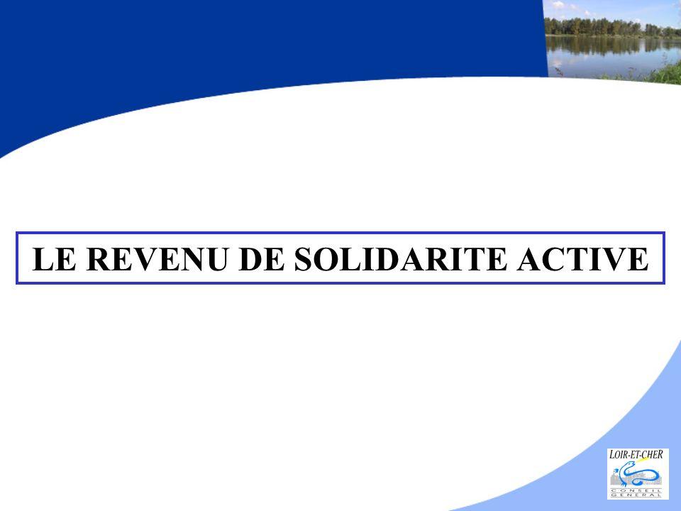 LE REVENU DE SOLIDARITE ACTIVE
