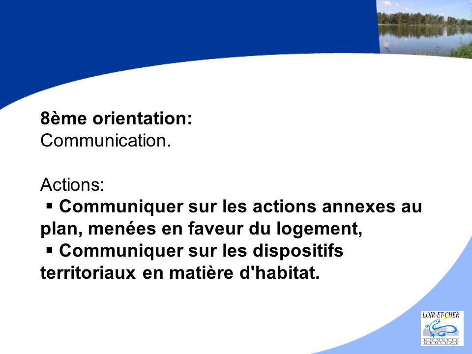 8ème orientation: Communication