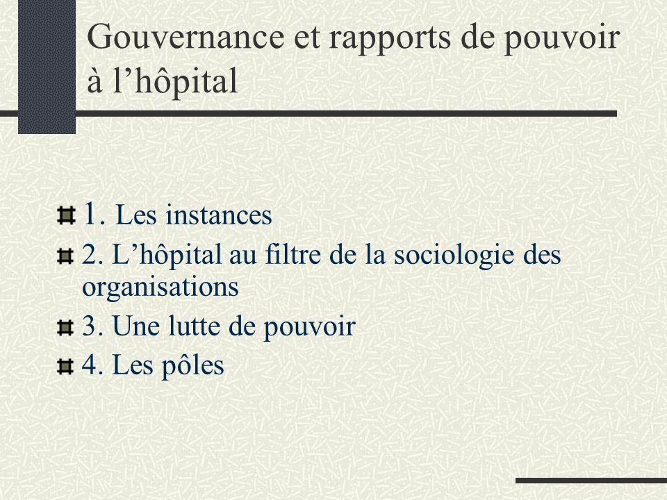 Gouvernance et rapports de pouvoir à l'hôpital