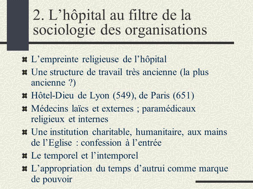 2. L'hôpital au filtre de la sociologie des organisations