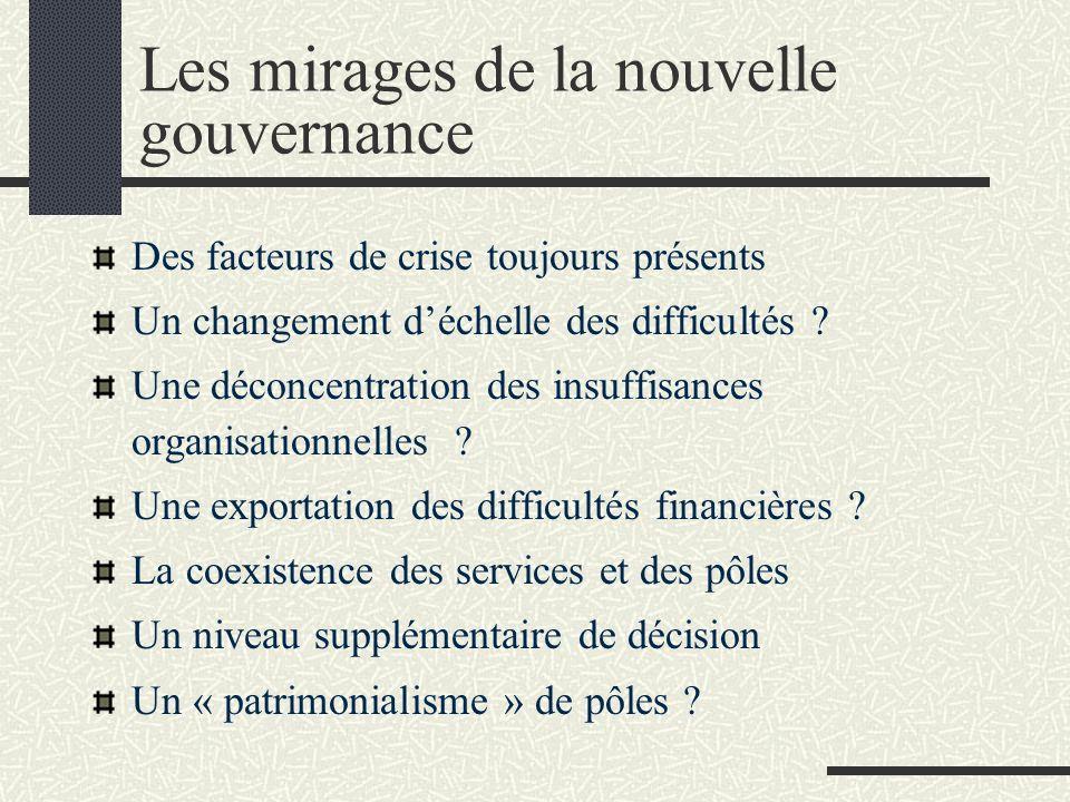 Les mirages de la nouvelle gouvernance