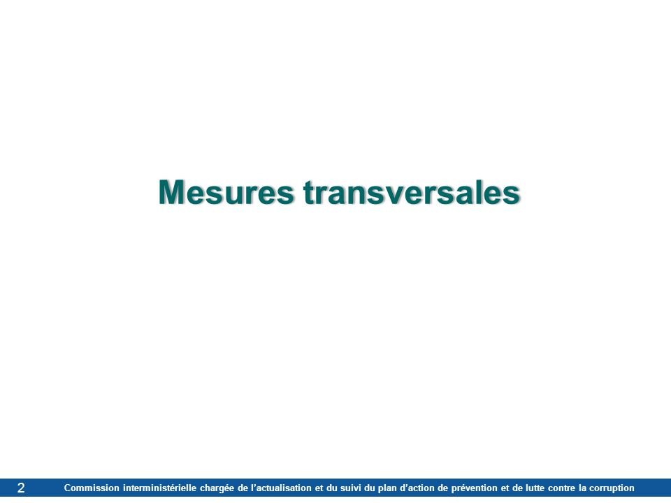 Mesures transversales