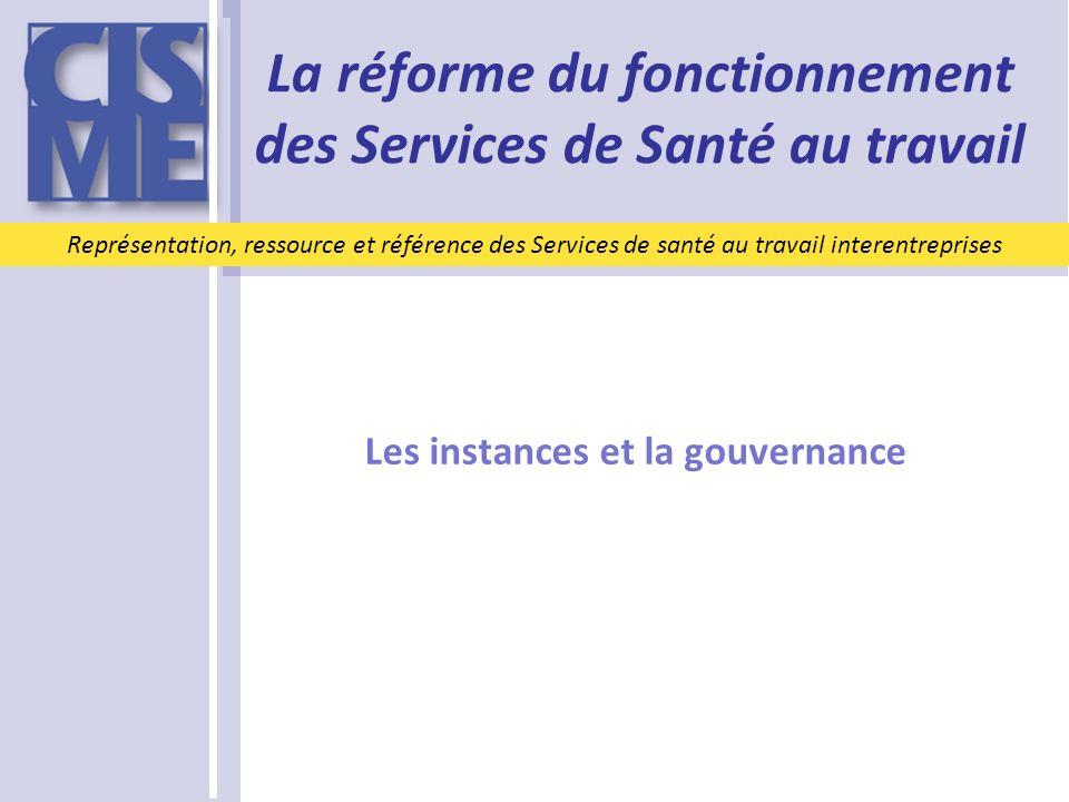 Les instances et la gouvernance