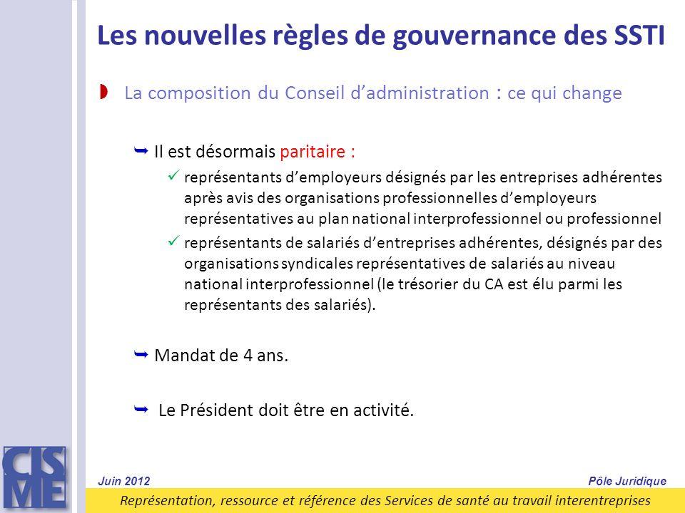 Les nouvelles règles de gouvernance des SSTI