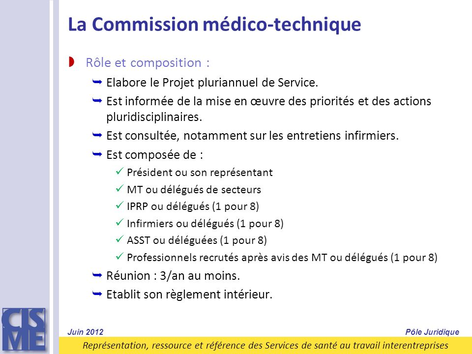 La Commission médico-technique