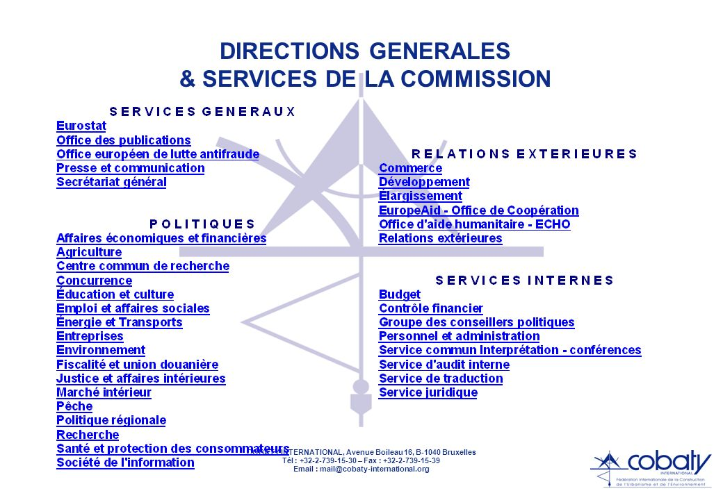 & SERVICES DE LA COMMISSION