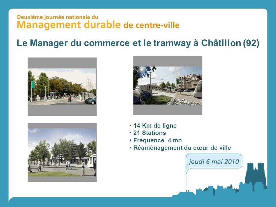 Le Manager du commerce et le tramway à Châtillon (92)