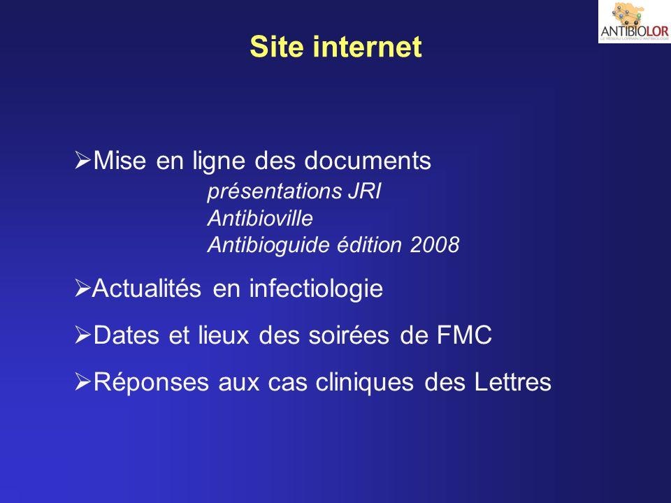 Site internet Mise en ligne des documents Actualités en infectiologie