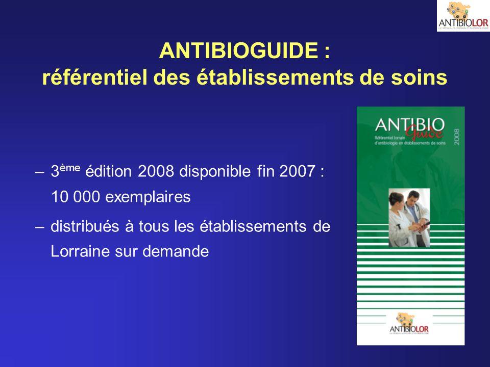 ANTIBIOGUIDE : référentiel des établissements de soins
