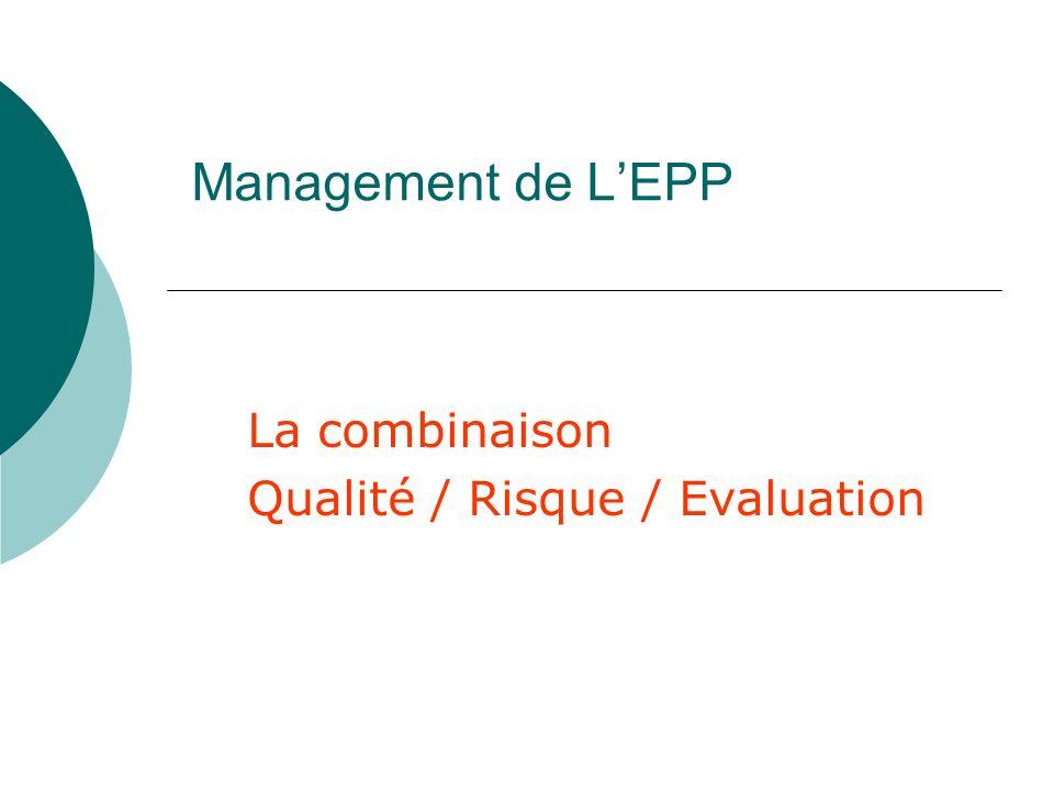 La combinaison Qualité / Risque / Evaluation