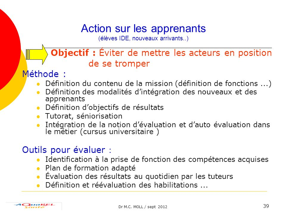 Action sur les apprenants (élèves IDE, nouveaux arrivants..)