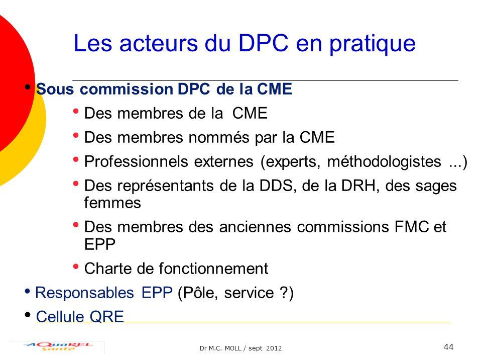 Les acteurs du DPC en pratique