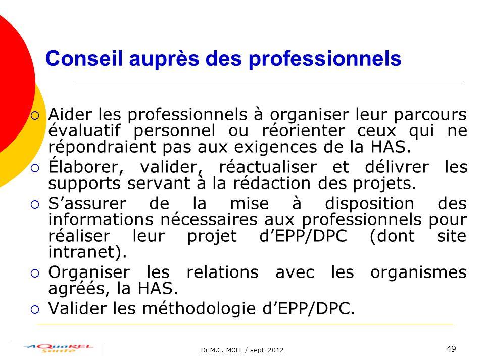 Conseil auprès des professionnels