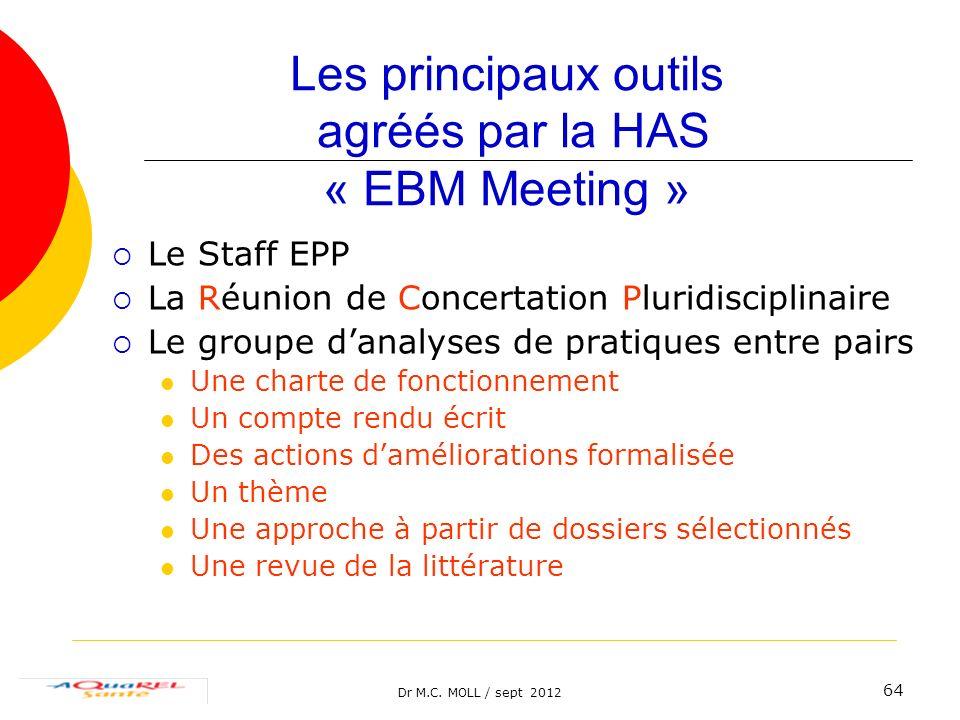 Les principaux outils agréés par la HAS « EBM Meeting »