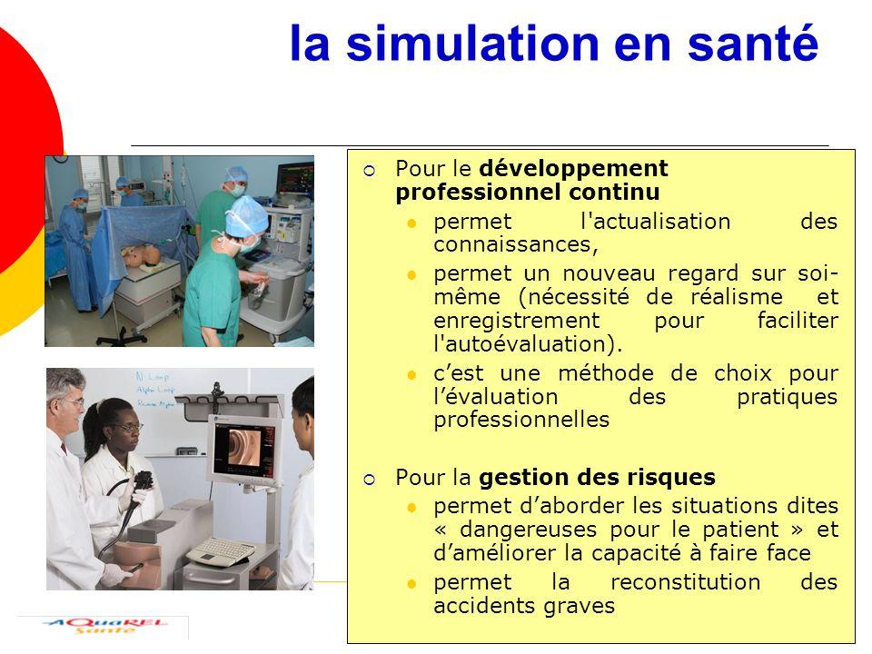 la simulation en santé Pour le développement professionnel continu