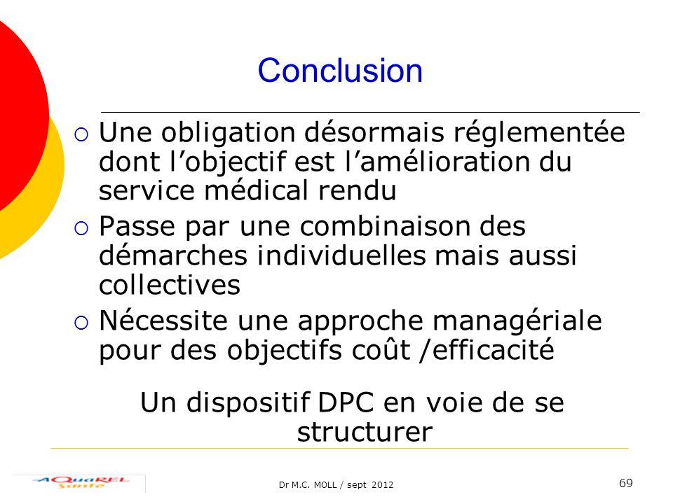 Un dispositif DPC en voie de se structurer
