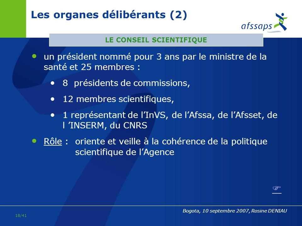 Les organes délibérants (2)