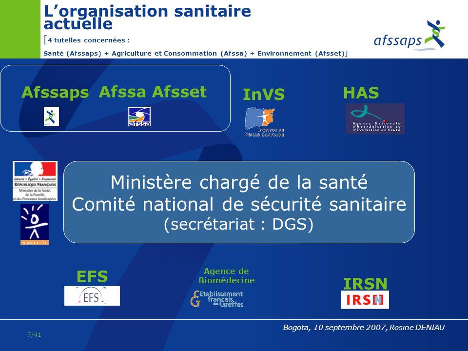 Ministère chargé de la santé Comité national de sécurité sanitaire