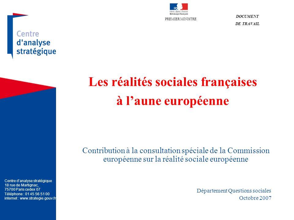 Les réalités sociales françaises à l'aune européenne