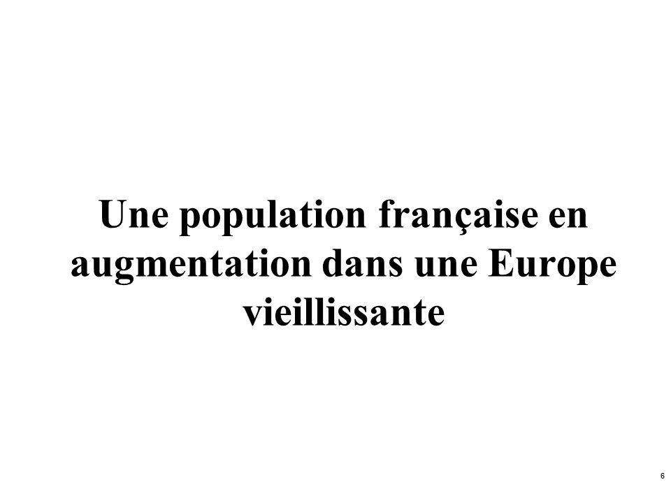 Une population française en augmentation dans une Europe vieillissante
