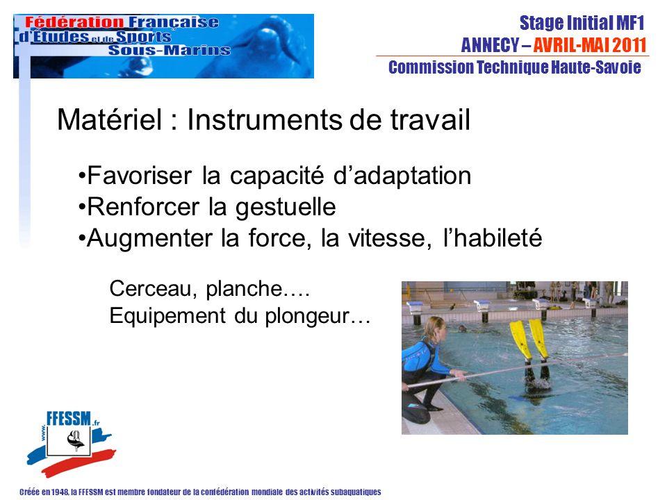 Matériel : Instruments de travail