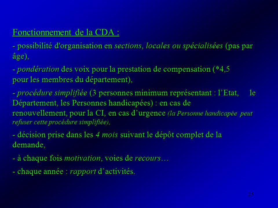 Fonctionnement de la CDA :