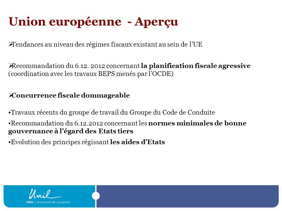 Union européenne - Aperçu