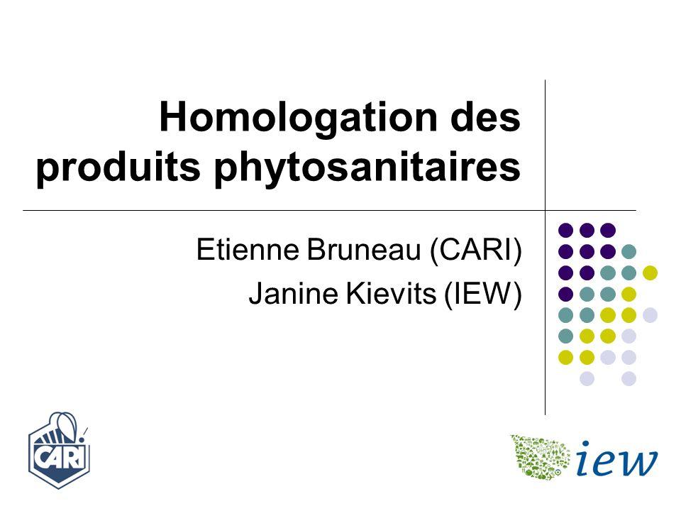 Homologation des produits phytosanitaires