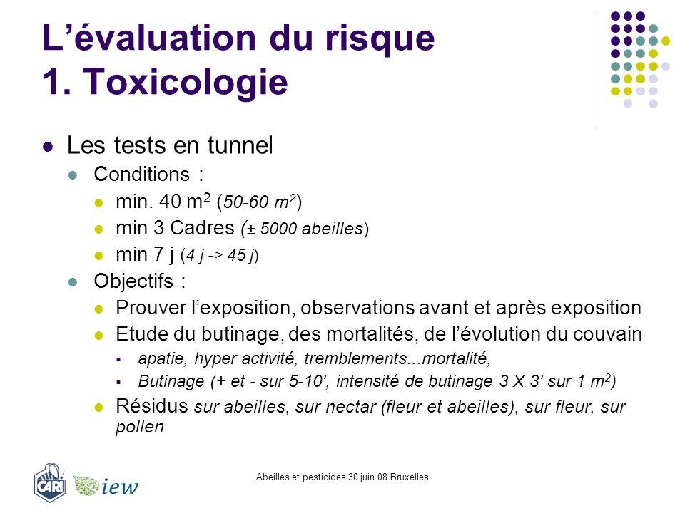 L'évaluation du risque 1. Toxicologie
