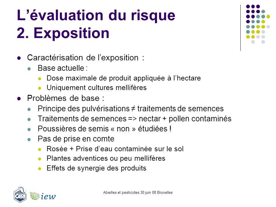 L'évaluation du risque 2. Exposition