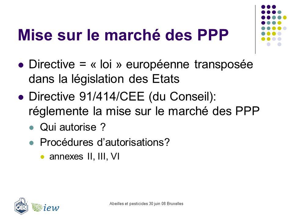 Mise sur le marché des PPP