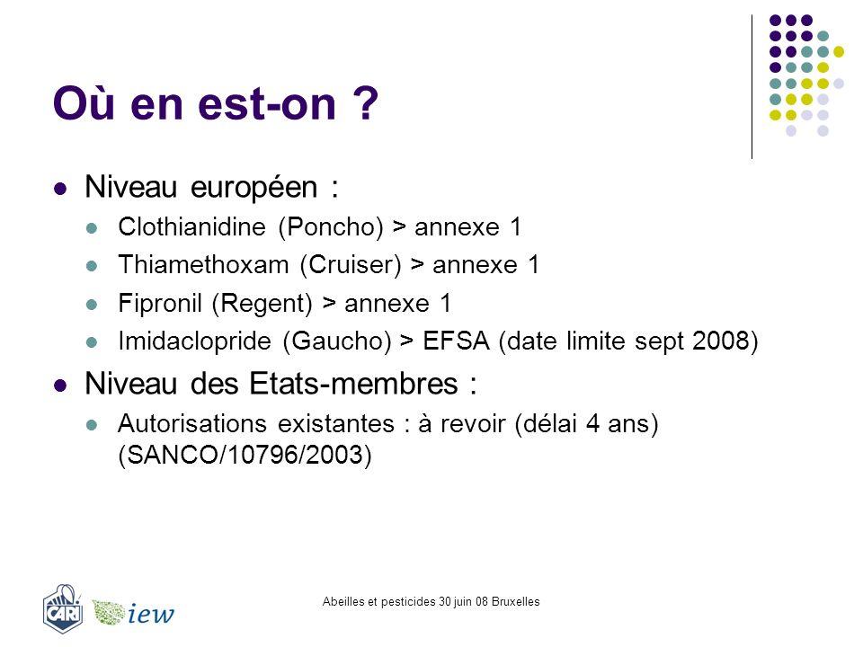Abeilles et pesticides 30 juin 08 Bruxelles