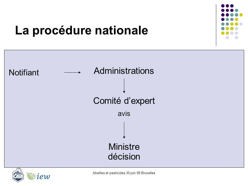 La procédure nationale