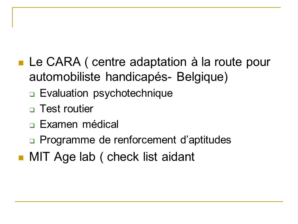 MIT Age lab ( check list aidant