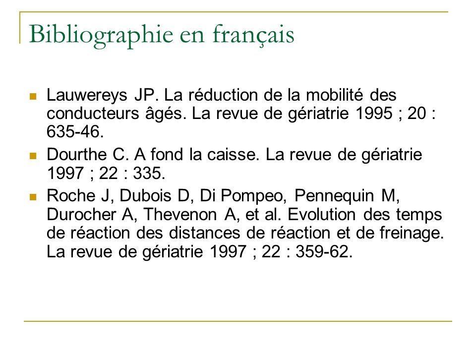 Bibliographie en français