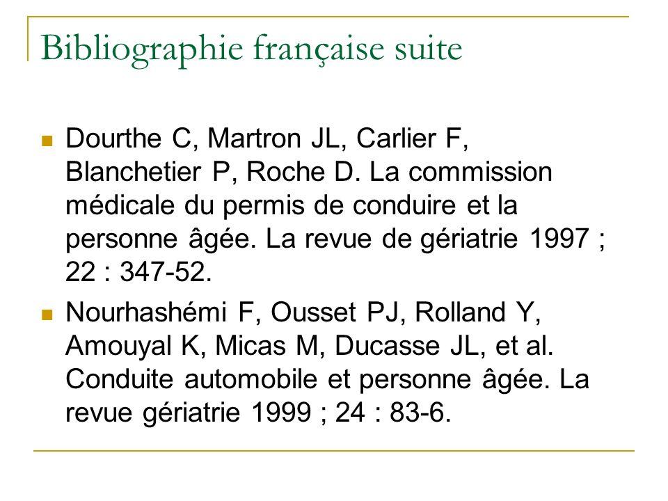 Bibliographie française suite