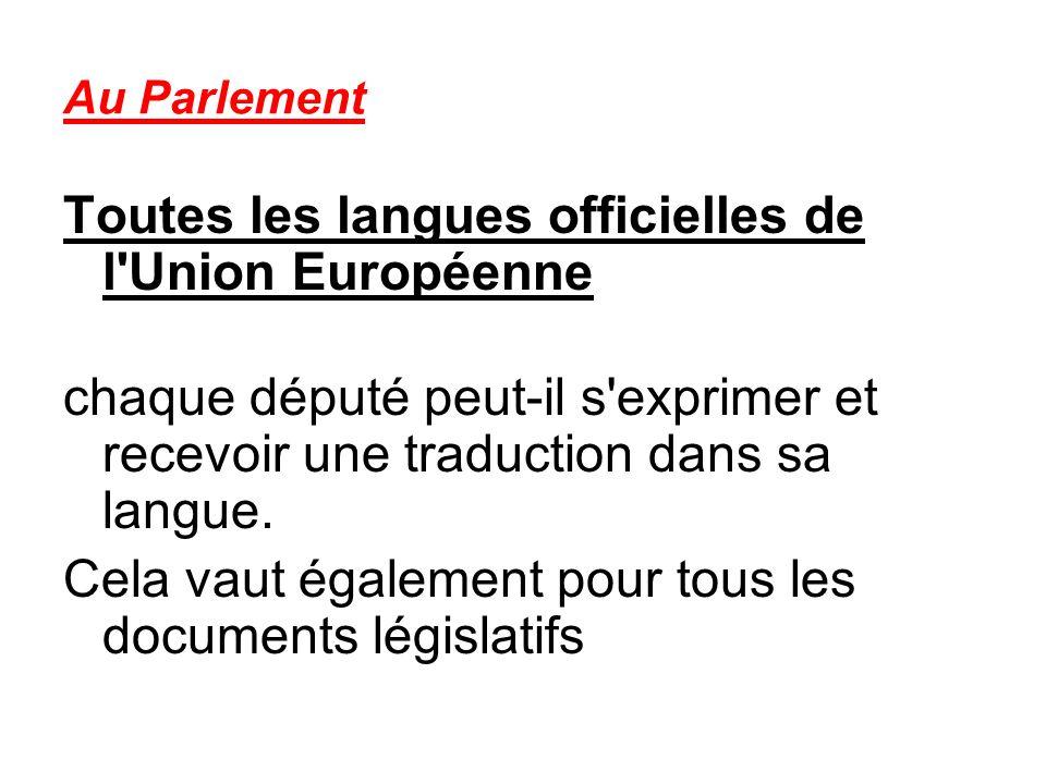 Toutes les langues officielles de l Union Européenne