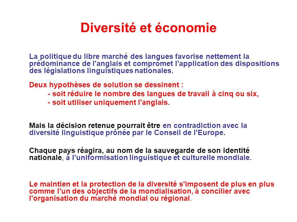 Diversité et économie
