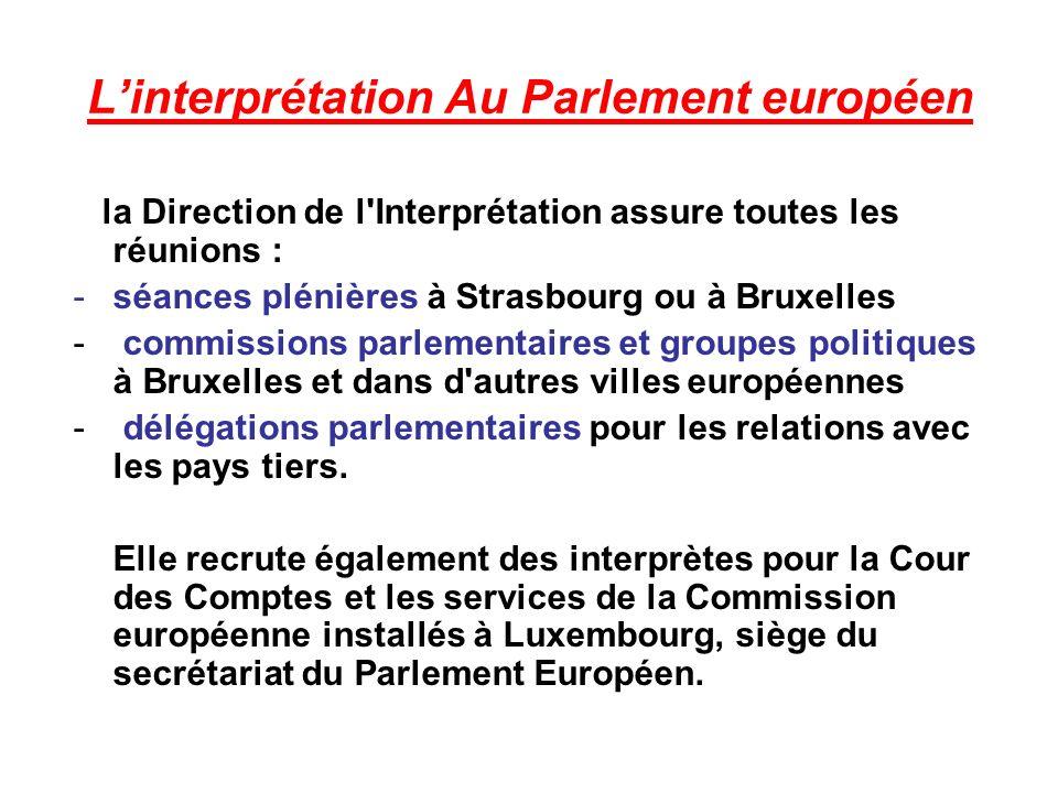 L'interprétation Au Parlement européen