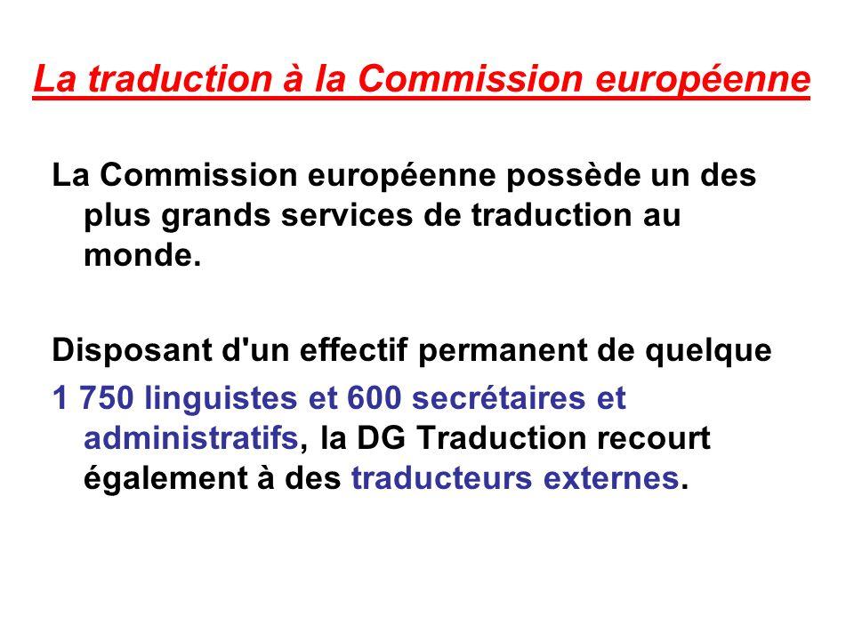 La traduction à la Commission européenne