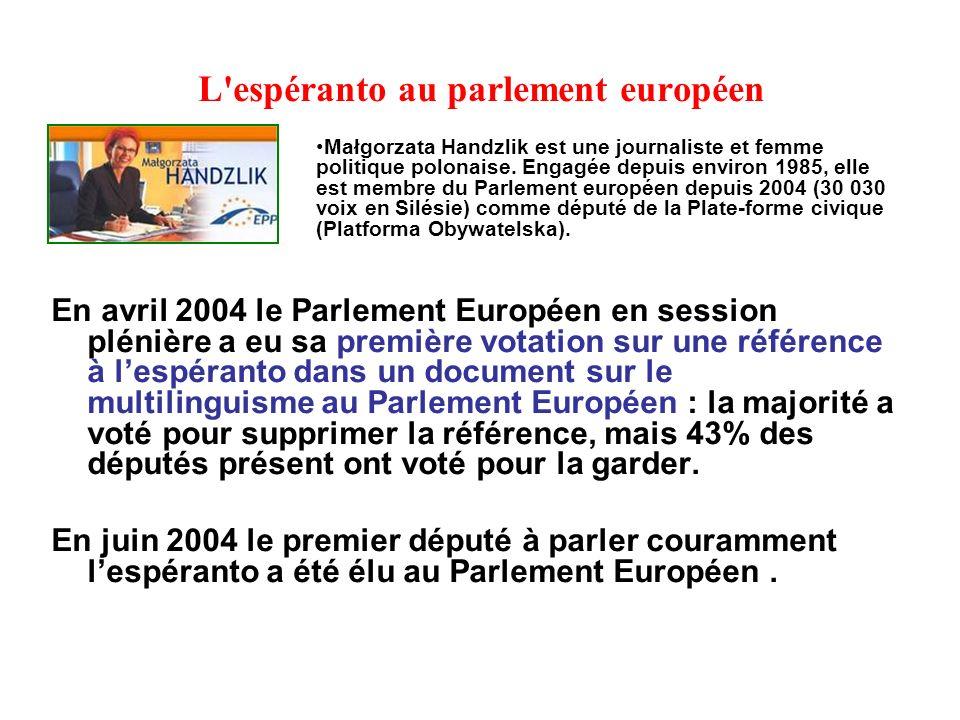 L espéranto au parlement européen